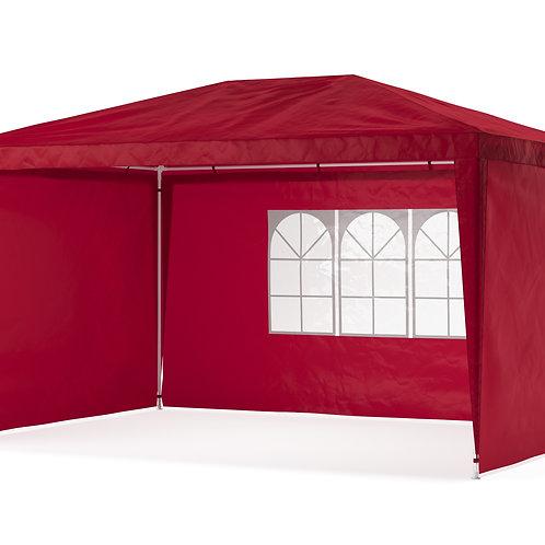 Gartenpavillon Partyzelt 3 x 4 m rot inkl. 4 Seitenwände