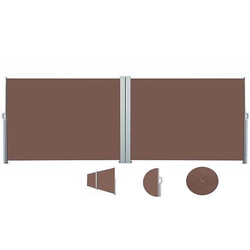 Doppelseitenmarkise 160 x 800 cm braun