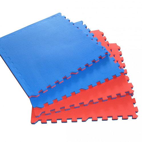 Bodenmatte 4er Set blau rot