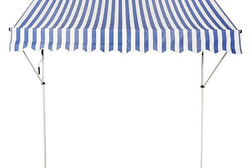 Balkonmarkise 200 x 120 cm blau/weiss