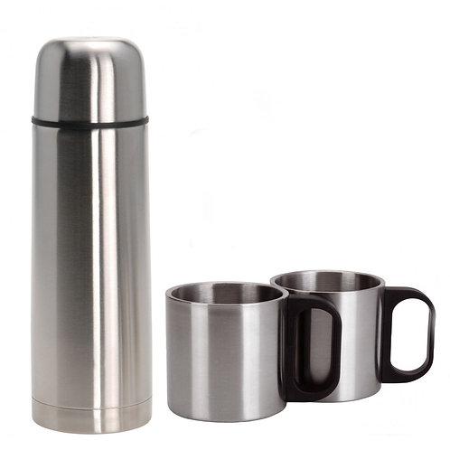 Thermoskanne 1 Liter inkl. 2 Tassen