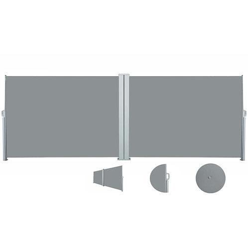 Doppelseitenmarkise 200 x 800 cm grau