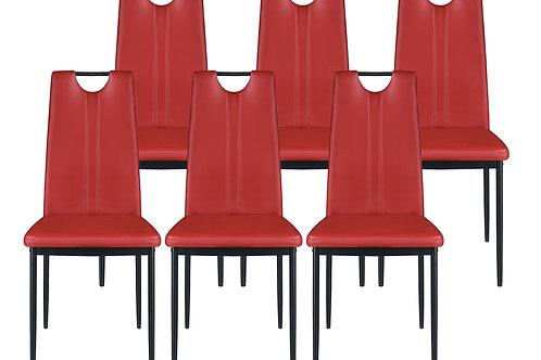 Esszimmerstuhl IVO rot im 6er Set