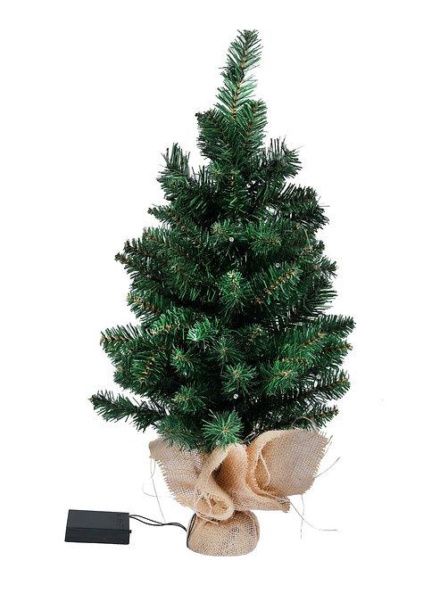 Künstlicher Weihnachtsbaum 60 cm mit Lichterkette