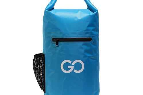 Dry Bag Tasche mit Reissverschluss blau 20L