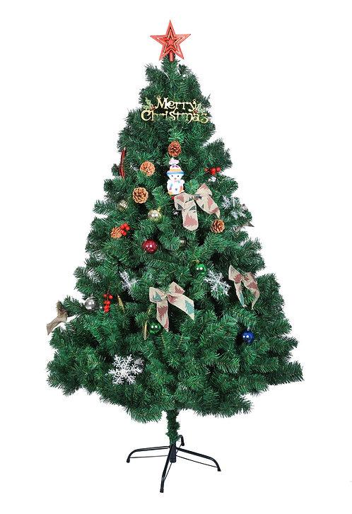Künstlicher Weihnachtsbaum 180 cm mit Weihnachtsschmuck