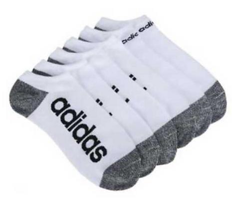 Vớ adidas men's NO SHOW 6 pair 100% chính hãng