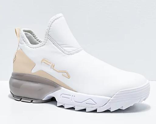 Giày Fila Lab White & Nude Shoes 100% chính hãng