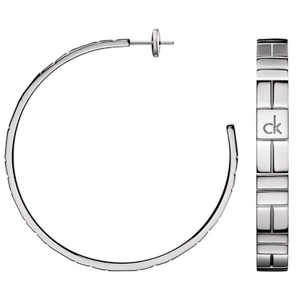 Bông Tai Nữ CK Calvin Klein Cobblestone Silver 100% chính hãng