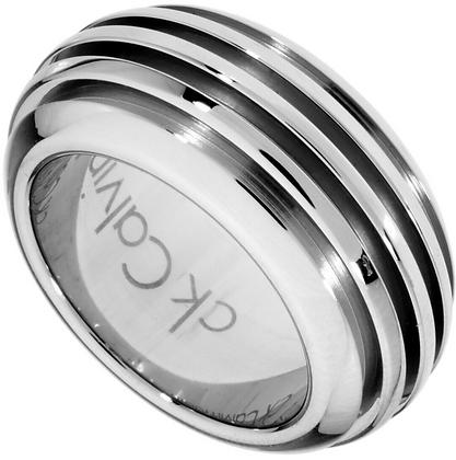 Nhẫn CK Calvin Klein Fractal Silver Size 6 Ring 100% chính hãng