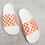 Thumbnail: Dép Nữ Vans Zoe Checkerboard Slides In Coral-Orange 100% Chính Hãng