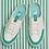 Thumbnail: Giày Fila Korea Double Marker Slip On Sneaker In Green 100% chính hãng