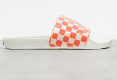 Dép Nữ Vans Zoe Checkerboard Slides In Coral-Orange 100% Chính Hãng