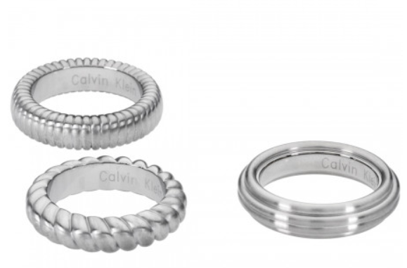 Nhẫn CK Calvin Klein Set 3 Cái Silver Waves 100% chính hãng