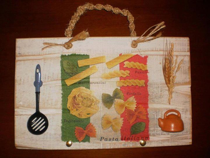 Caixote de legumes - Placa decorativa