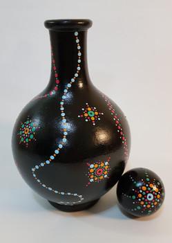 Vaso em cerâmica crua