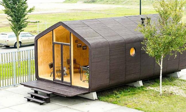 Casa sustentável de papelão fica pronta em 24h e dura 100 anos