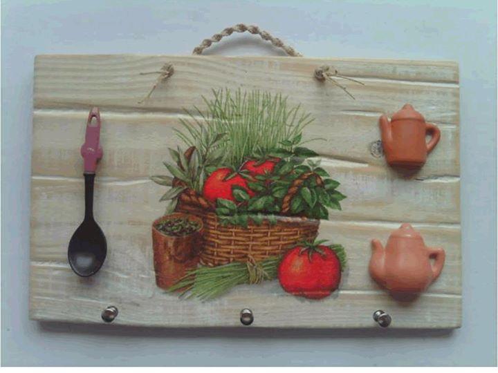 Caixote de legumes - Placa de cozinha