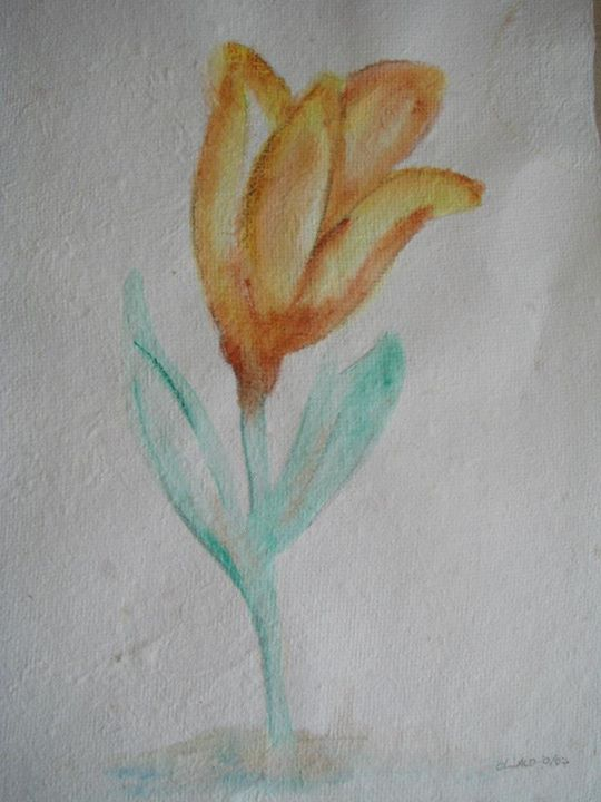 Aquarela sobre papel reciclado