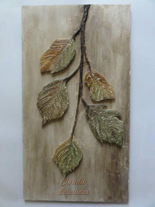 Quadro galho com folhas