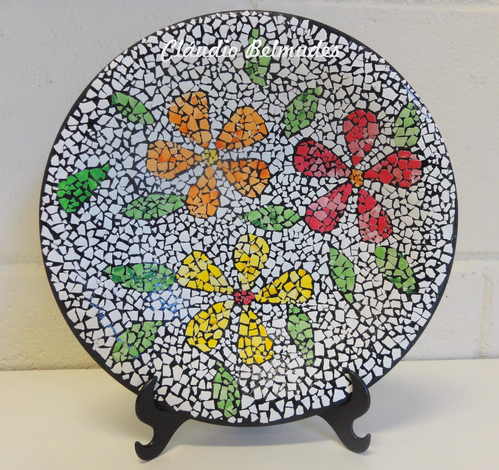 Mosaico no prato