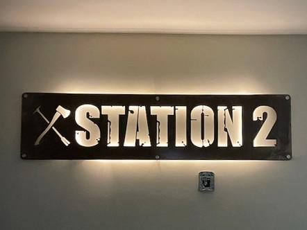 STATION 2 INTERIOR SIGN