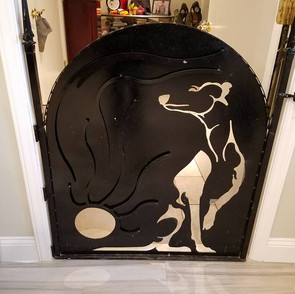 WHIPPET GATE WITH CAT HOLE