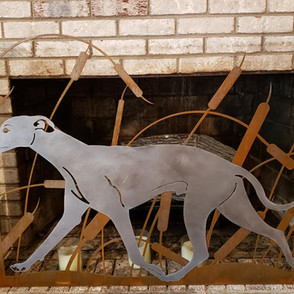 WHIPPET FIREPLACE SCREEN