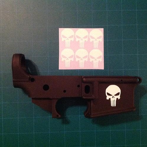 Punisher AR 15 Receiver Sticker 6 Pack