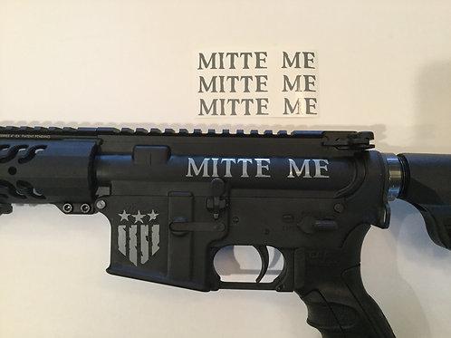 Mitte Me AR 15 Upper Receiver Sticker 3 Pack