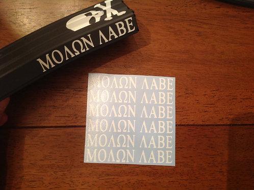 MOLON LABE AR Mag Side Sticker 6 Pack