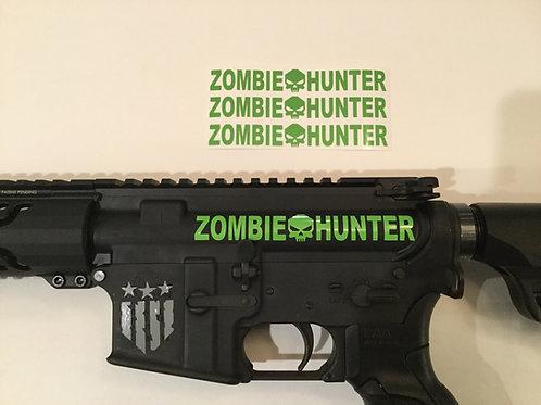 Zombie Hunter AR 15 Upper Receiver Sticker 3 Pack