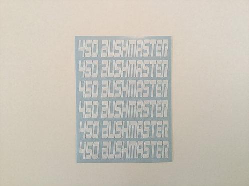 450 Bushmaster AR Mag Side Sticker 6 Pack