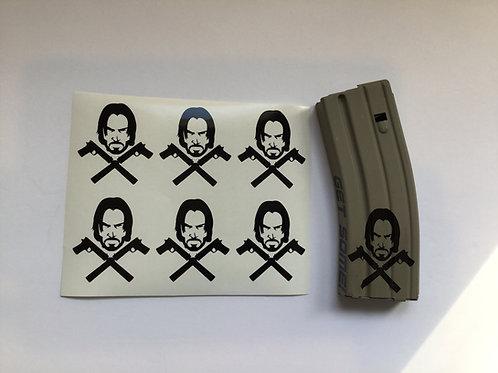 John Wick AR Mag Sticker 6 Pack