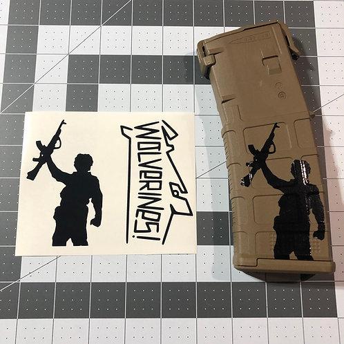 Wolverines Red Dawn Sticker Pack