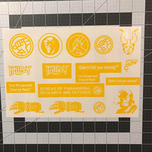 Hellboy Handgun Sized Stencil Pack