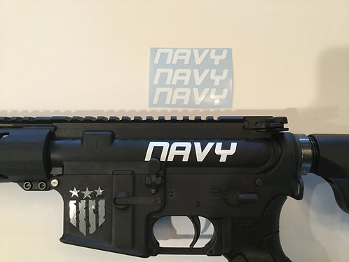 Navy AR 15 Upper Receiver Sticker 3 Pack