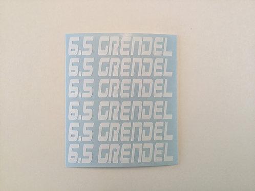 6.5 Grendel AR Mag Side Sticker 6 Pack