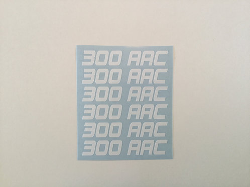 300 AAC AR Mag Side Sticker 6 Pack