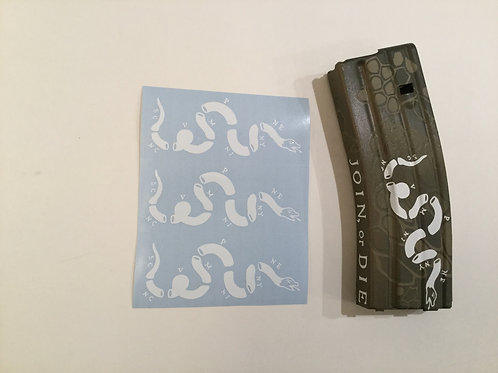 Join or Die Snake AR Mag Sticker Deluxe 3 Pack