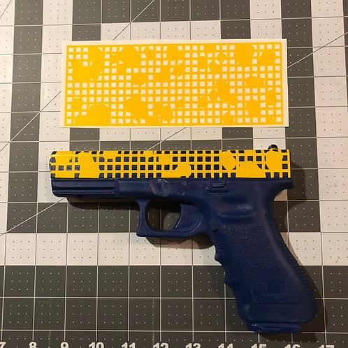 Desert Night Camo Stencil for Handgun Slide