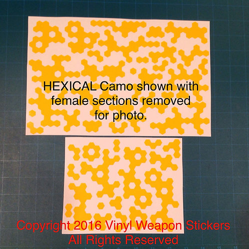 Hexical Camo Stencil Pack (Normal Size)