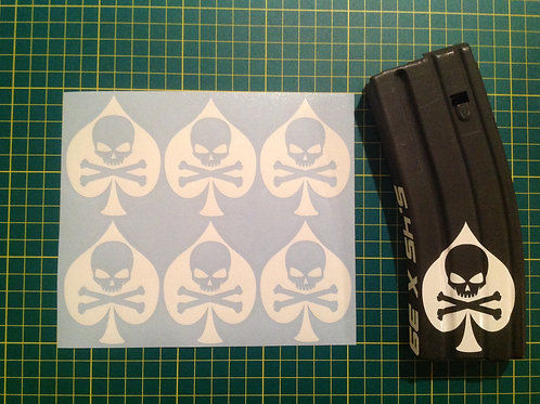 Ace Of Spades Death Sticker 6 Pack