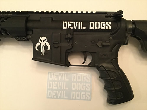 Devil Dogs AR 15 Upper Receiver Sticker 3 Pack