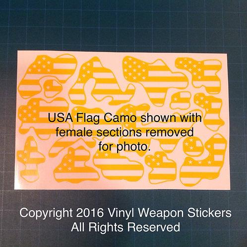 USA Flag Camo Stencil Pack