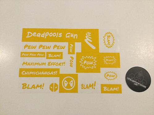 Deadpool's Gun Weapon Pack Stencil