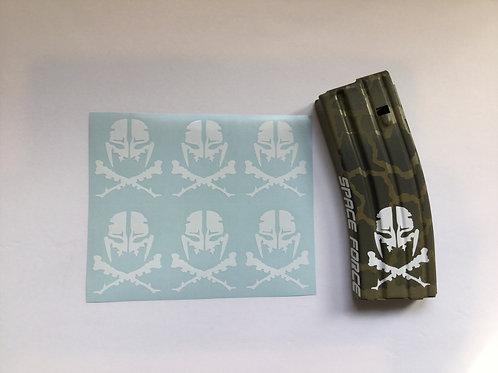 Bug Alien and Crossbones AR Mag Sticker 6 Pack