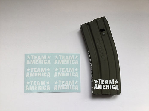 Team America AR Mag Sticker 6 Pack