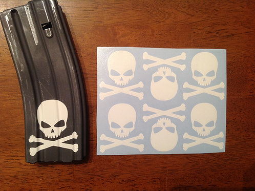 Skull and Crossbones Sticker 6 Pack
