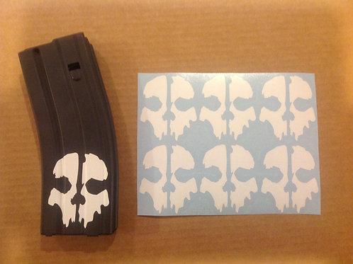 COD Ghosts Skull Sticker 6 Pack